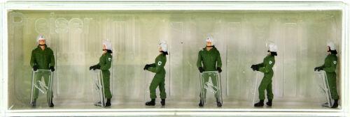 Preiser 10395 6x Bereitschaftspolizei im Einsatzanzug mit Schutzhelm u Schild