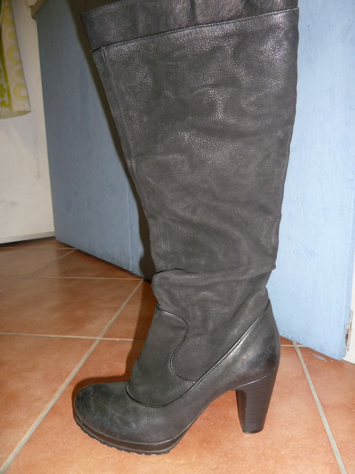 Stiefel echtes Wildleder schwarz von  MJUS  aus Italien