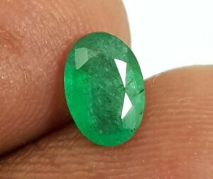 0.60 Ct Natural Emerald Zambia Rich Green Color Oval Cut 7X5 MM Luster Gemstone
