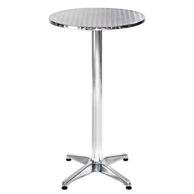 Stehtisch Alu 2in1 höhenverstellbar Bistrotisch Bartisch Garten Party Tisch rund