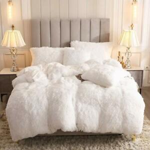 Uhamho-Faux-Fur-Velvet-Fluffy-Bedding-Duvet-Cover-Set-Down-Comforter-Quilt-Cover