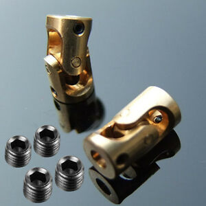 2pcs Brass Universal Joint Coupling Coupler 3mm to 3mm For RC Model Car Boat