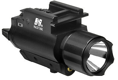 NcSTAR Green Laser Sight & 3W 150 Lumens LED Flashlight Combo QR Weaver Mount