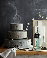 Vintage Style Rd Metal Cake Stands Platess/3 Display Platform Wedding Decor