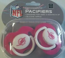 CHICAGO BEARS Pink 2-pack Infant Pacifiers NFL FOOTBALL BABY SHOWER GIRL GIFT