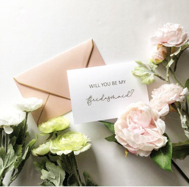 Will you be my bridesmaid Card, Gold Foil Card, Bridesmaid Proposal Card