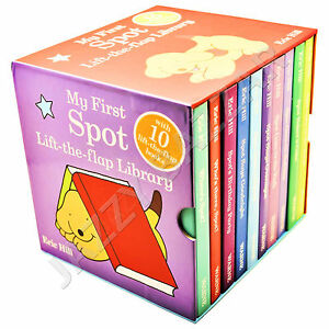 My-First-SPOT-Lift-the-Flap-Library-10-Board-Books-Set-Collection-Eric-Hill-New