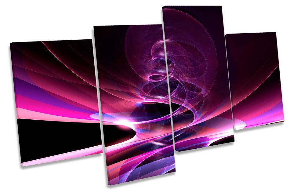 Abstracto Multi de plasma de luz estroboscópica Multi Abstracto tela pared arte enmarcado Panel da4de6