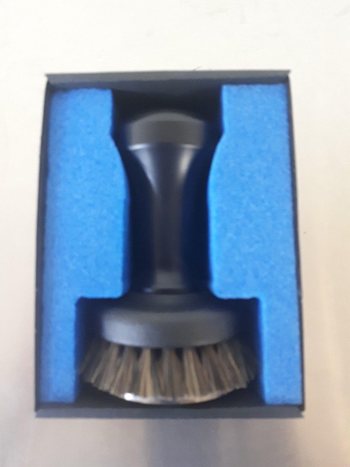 Professional Espresso Tamper avec brosse en acier inoxydable noir 58 mm MADE IN ITALY