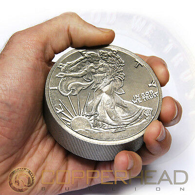 One Pound (16oz) Titanium Coin Walking Liberty .996 Fine Bullion Round Bar 1 lb