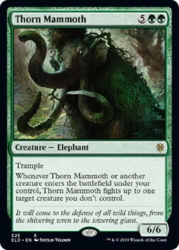 Thorn Mammoth 323//269 Near Mint MTG Throne of Eldraine