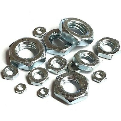 NUTS M24 BZP NUTS IN STOCK . ZINC PLATED HEX FULL NUTS 4MM 24MM  M4