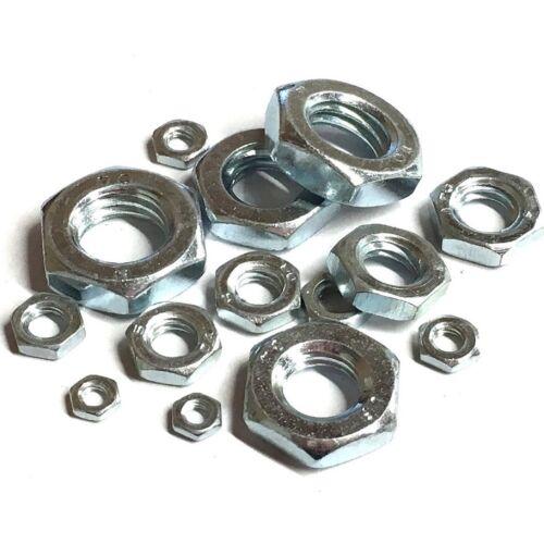 Half Nut M3 M4 M5 M6 M8 M10 M12 M16 Hexagon Half Lock Nuts BZP Steel DIN 439