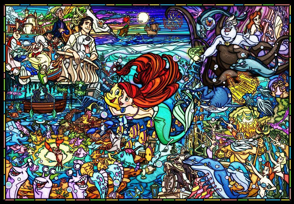 1000 Piece Jigsaw Puzzle Little Mermaid histoire vitraux
