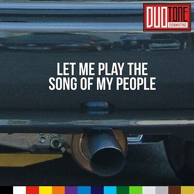 SONG OF MY PEOPLE sticker EXHAUST honda SUBARU boost JDM euro DECAL vinyl SOUND
