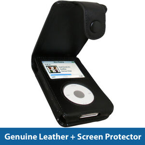 Black Leather Case Cover For Apple Ipod Classic 80gb 120gb 160gb 6th Generation Ebay