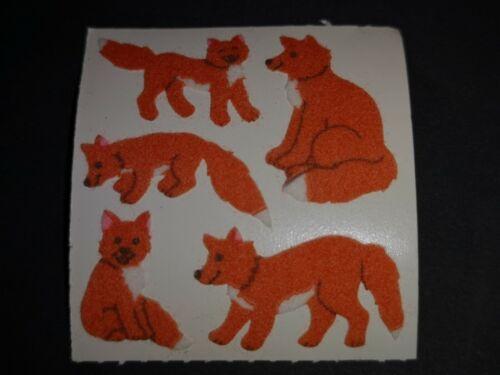 Sandylion Stickerabschnitt 80s 90s Füchse Fuchs Sticker Stickeralbum