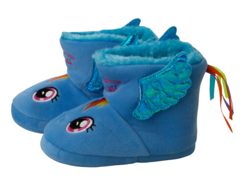 GIRLS OFFICIAL MY LITTLE PONY 3D WINGS PULL ON BOOTIE SLIPPERS KIDS UK SIZE 11