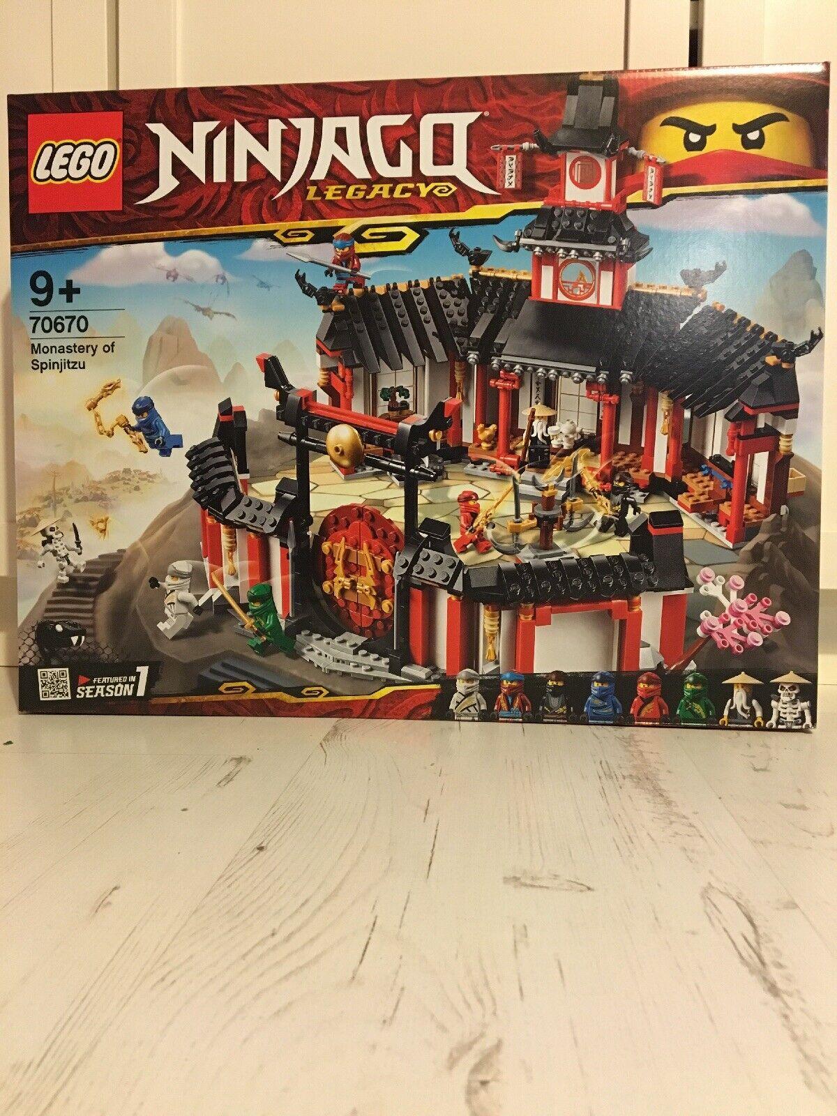 Lego Ninjago 70670 Monastery Of Spinjitzu New Sealed..