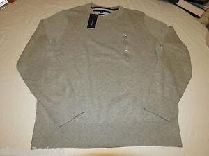 Mens-Tommy-Hilfiger-long-sleeve-sweater-shirt-Pima-Cotton-7864539-grey-004-L