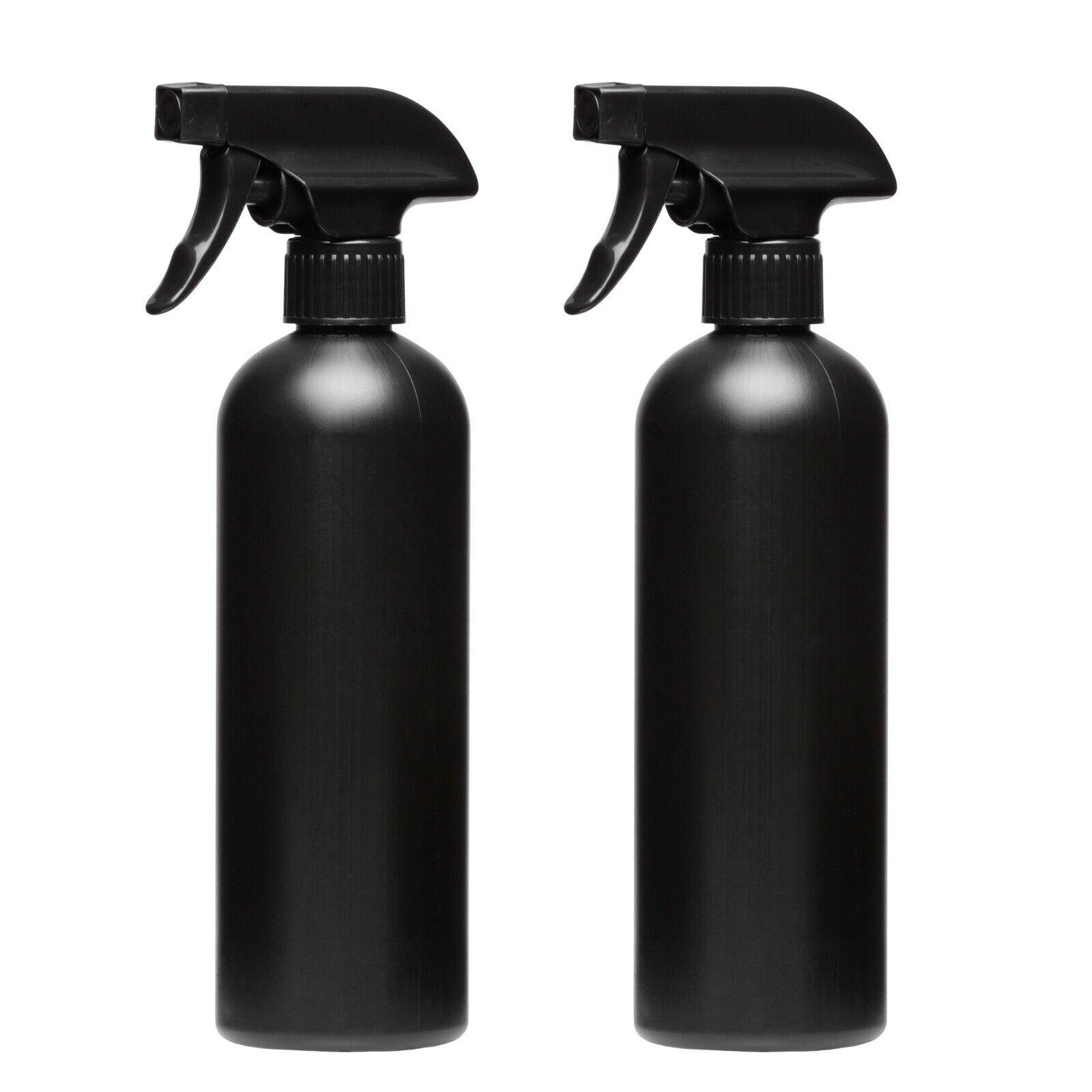 2 x 500ml Black Plastic Spray Bottle Water Sprayer Cleaning Garden Hair Salon