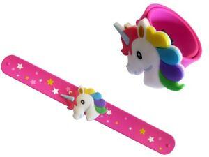 Uhren & Schmuck Set 4-tlg Einhorn Schnapparmband Armband Kinderarmband Gummi 23 Cm Hohe QualitäT Und Geringer Aufwand