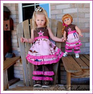 BonEful-Boutique-NEW-RTS-Girl-6-Pageant-Cow-girl-Birthday-Twirl-Dress-Top-Capri