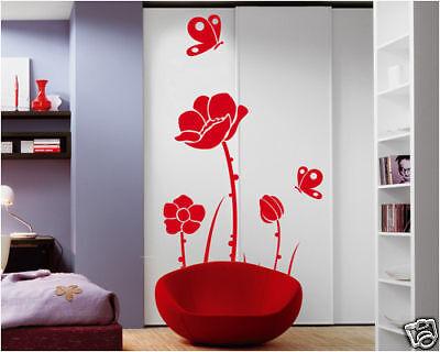 00076 Wall Sticker Design Adesivi Murali Vaso con viole