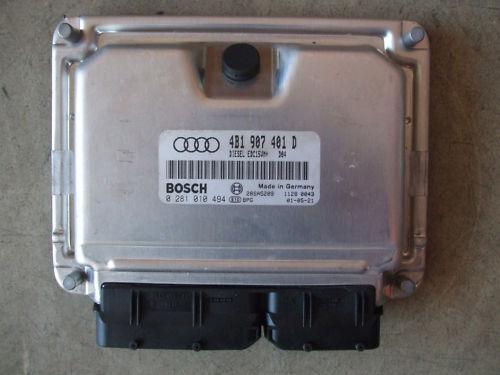 Motorsteuergerät unidad de control motor 2.5 TDI audi a6 4b 4b1907401d aym