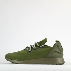 c10f90683 adidas Originals ZX Flux ADV X Mens Casual Trainers Shoes Olive ...