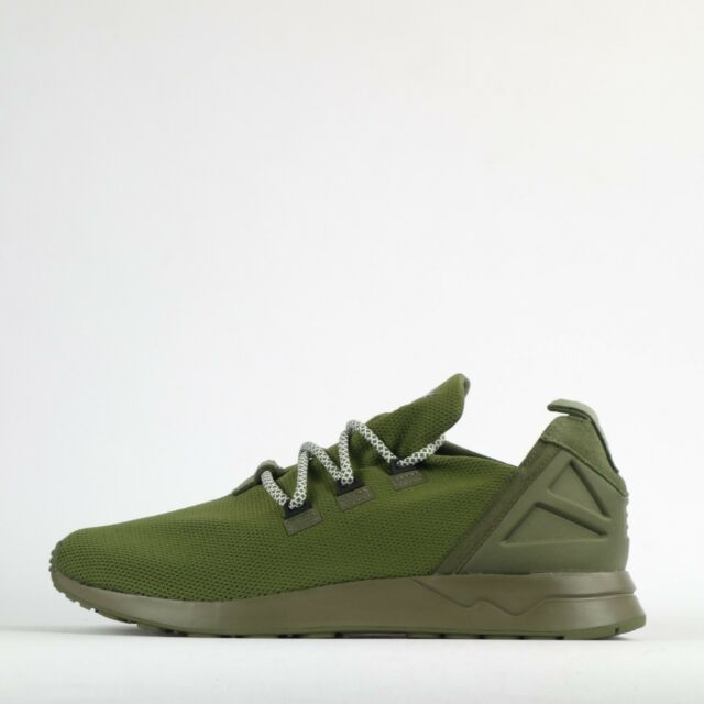 best loved 85b20 e29c1 adidas Originals ZX Flux ADV X Mens Casual Trainers Shoes Olive Green
