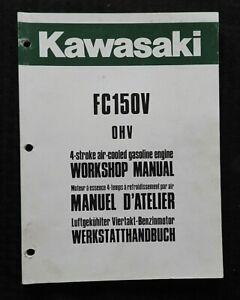 Kawasaki-FC150V-4-STROKE-Air-Cooled-Gasolina-Motor-Servicio-Reparar-Manual-Nice