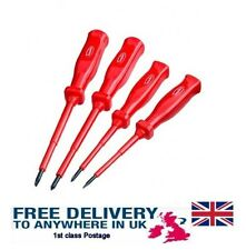 new ELECTRICIAN SCREWDRIVER SET 4 PCS FULLY INSULATED 2 FLAT 2 CROSS HEADS