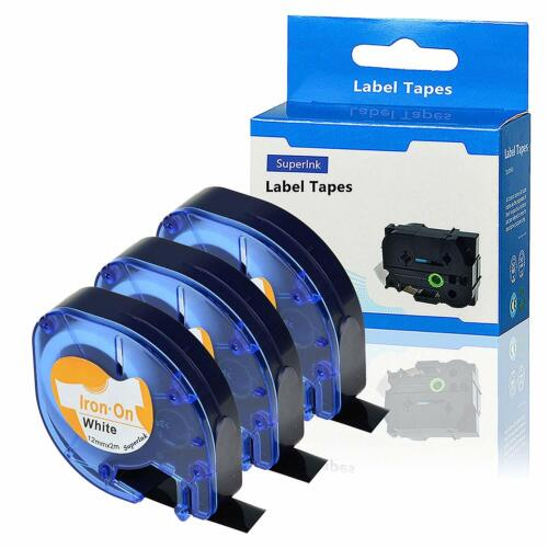 Dymo3X kompatibles  LetraTag 18768 18769 LT18771 Etikettenband zum Aufbügeln