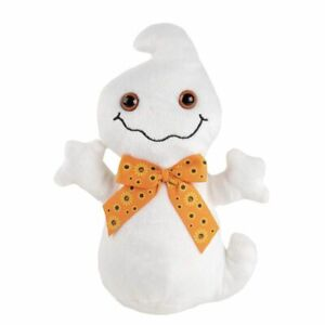 Cute Ghost Plush Toy Kids Soft Stuffed Toy Halloween Trick or Treat Gifts, White
