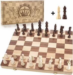 Amerous-15-034-X-15-034-Magnetico-Juego-de-ajedrez-de-madera-tablero-de-ajedrez-de-viaje-plegable