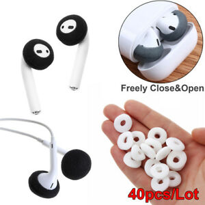sports shoes cf51b 9ce9a Details about 40Pcs Replacement Earphone Ear Pad Sponge Foam Earbud Cover  For Airpods Earpods