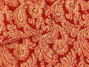 Red Lame Fabric