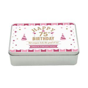 Image Is Loading 75th Birthday Keepsake Novelty Funny Tin Gift Box