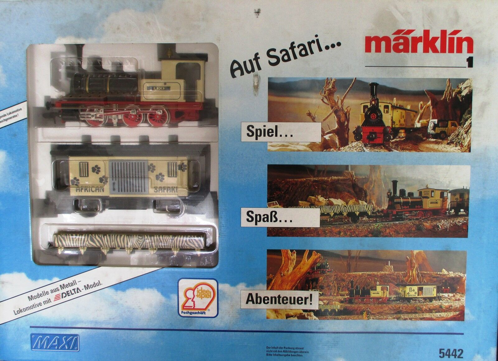 Märklin 5442 1 Gauge Safari Train Steam Locomotive Wagon Mip