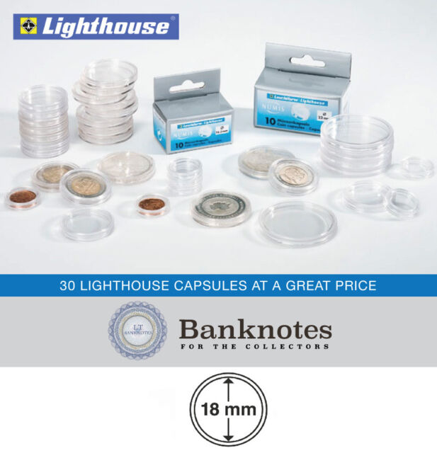 100 x 34mm Lighthouse coin capsules