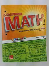California Math Your Common Core Edition Course 2/volume 2 by Carter Cuevas VG