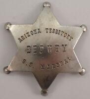 Arizona Territory Deputy U.s. Marshal Star Old Western Badge Pin Bw-62