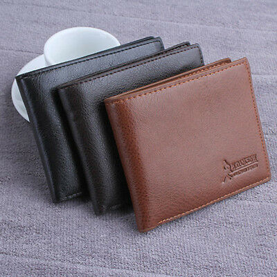New Mens Leather Wallet Card Holder Coin Purse Pockets Bifold Money Clip Wallet
