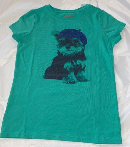 Cat /& Jack XS-XL #te8 Girls/' Short Sleeve Jade Green Dog Hat T-Shirt