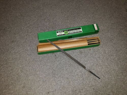 """Priced Individual. 1 Saber 8/"""" Square Second Cut File Made in Anderson Indiana"""