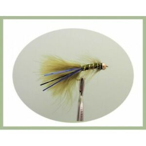 Fly Fishing Flies 8 Pack Goldhead Orange Daddy Long legs Trout Fly Size 10