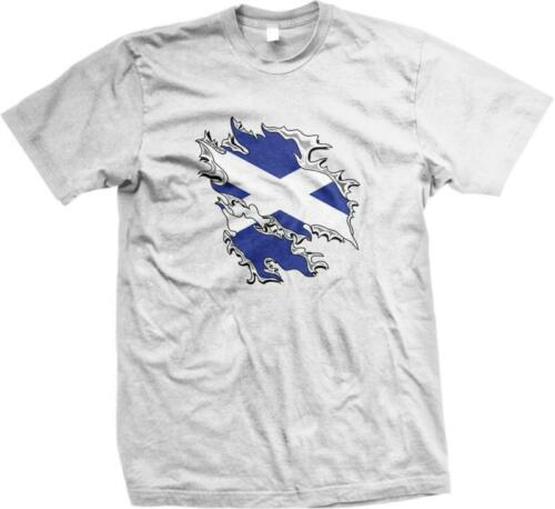 Scotland Shred Flag Scottish Pride Alba Scots Independence Mens T-shirt