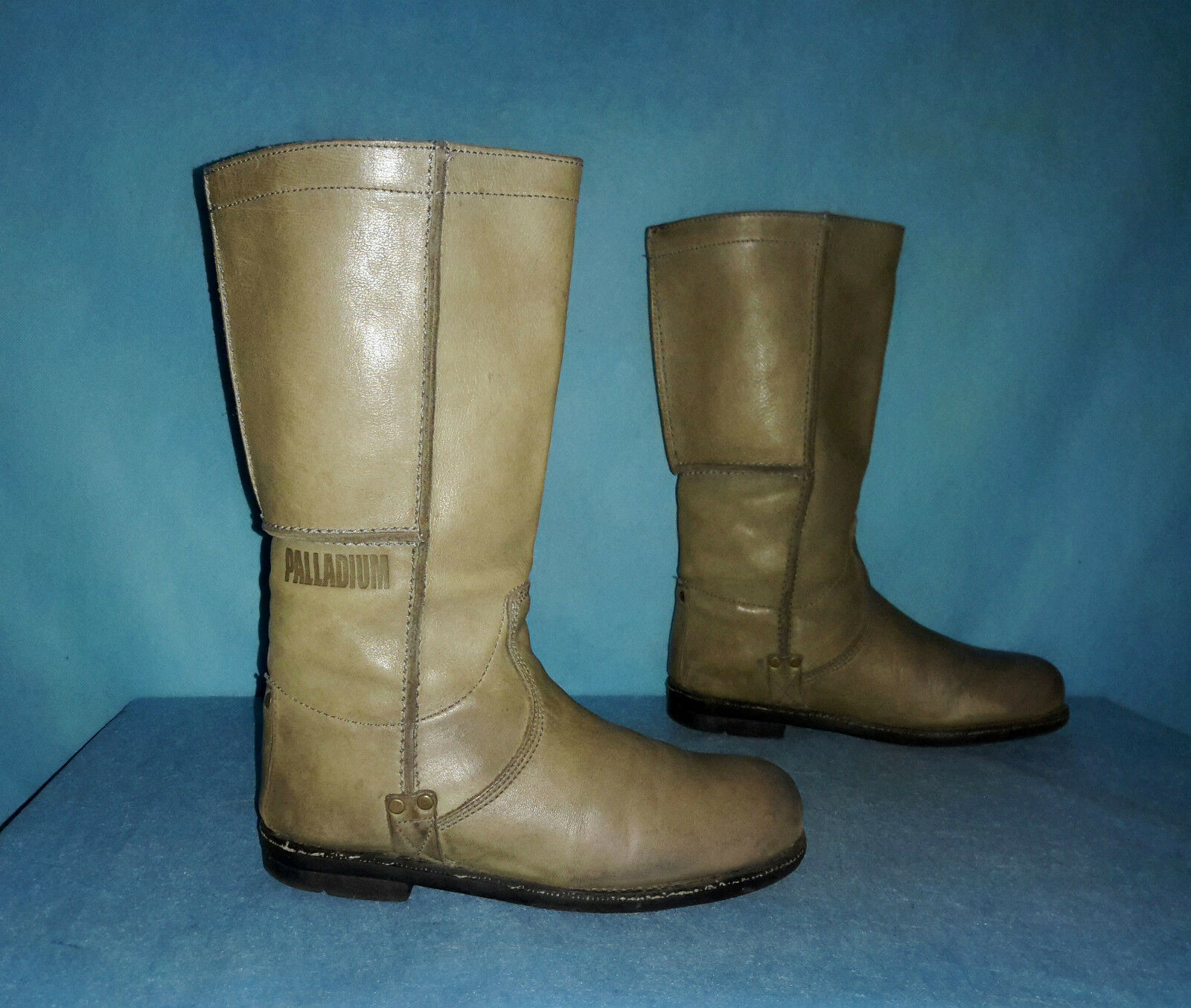 Boots PALLADIUM leather khaki clear size 37 FR good condition general