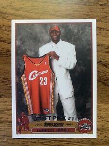 2003/04 Topps Lebron James #221 Rookie RP #1 Draft Pick Cavs Lakers
